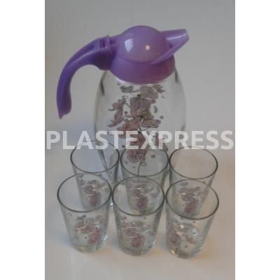 1,7 L-es kancsó + 6 pohár