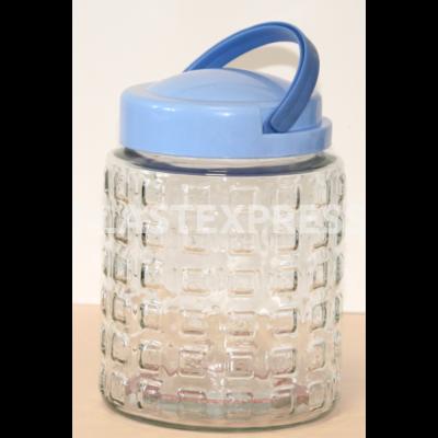 1.7 L-es mintás kockás üveg