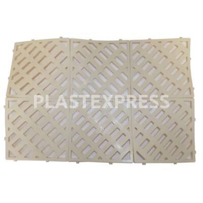 Kádkilépő műanyag lábrács 15,2x15,2 cm