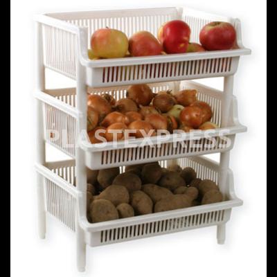 Maxi zöldségtartó 39,5x30x17 cm - Fehér
