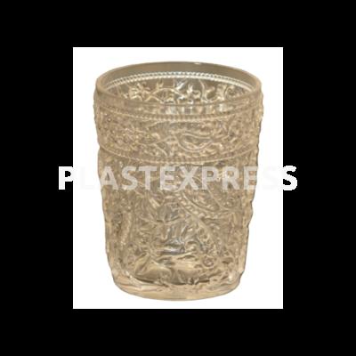 Kristály mintázatú pohár  4 dL-es - Víztiszta