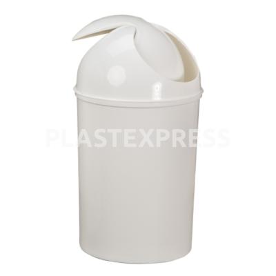 20 L-es hengeres csapfedeles szemetes - Fehér