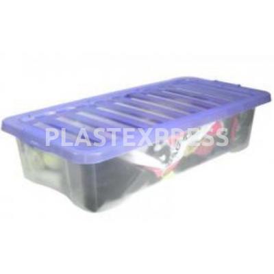 Tároló doboz 71x31x15 cm 30 L - Transz. kék