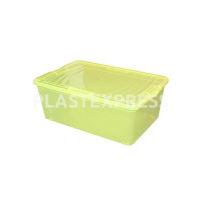 11,8 L Háztartási tetős doboz - Transz sárga
