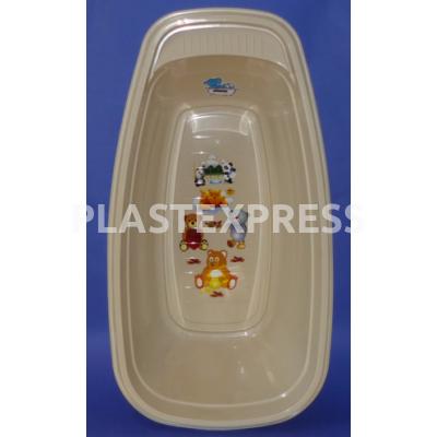 Gyermek fürdőkád matricával, hőmérővel - Bézs