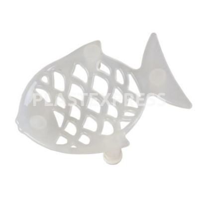 Hal formájú gumitalpas szappantartó - Fehér