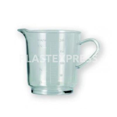 2 dl-es  mércés kiöntő pohár - Víztiszta
